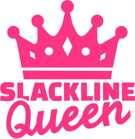 webbing: Slackline queen with crown