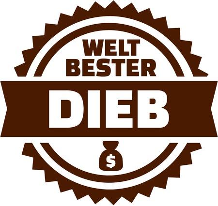 Worlds best Thief german button