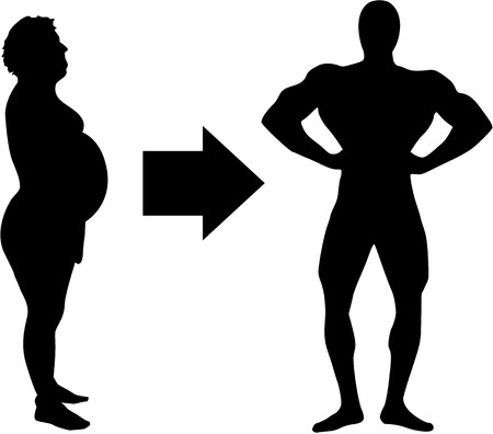 envy: Loss of weight - from fat to muscle Illustration