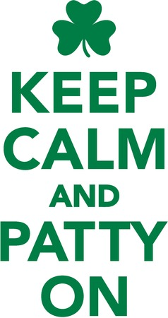 Keep calm and patty on Illustration