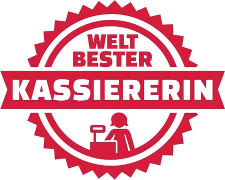 Worlds best Cashier german emblem Ilustração