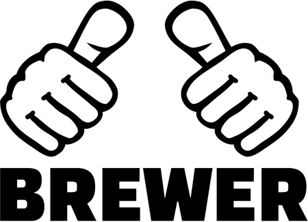 the brewer: Brewer with thumbs