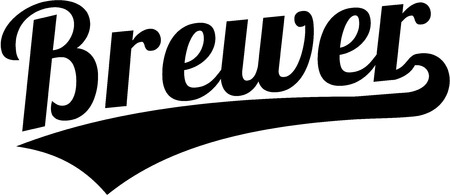 brewer: Brewer word in retro style Illustration