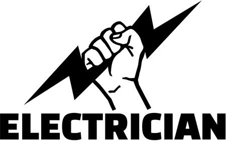 ボルトを手で電気技師の単語