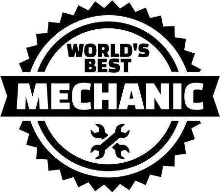 Worlds best Mechanic Ilustrace