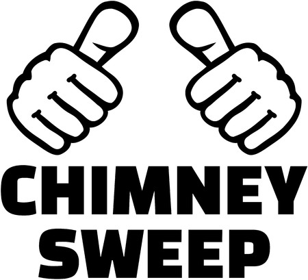 lucky charm: Chimney sweep with thumbs