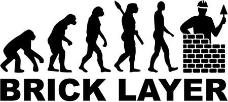 Bricklayer evolution mason Ilustrace