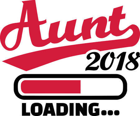 Aunt loading bar 2018 Illustration