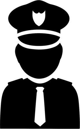 Policeman icon pictogram