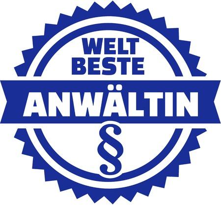 Worlds best female lawyer german Illustration