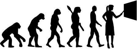 Female teacher silhouette evolution