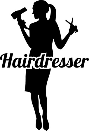 coiffeur: Hairdresser silhouette Illustration