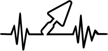 mason: Brick layer heartbeat line