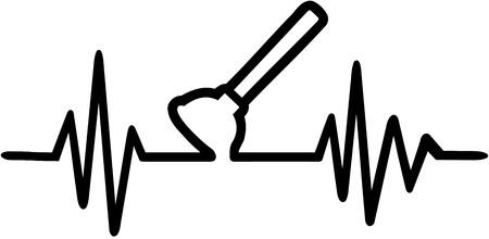Plunger heartbeat line Vetores