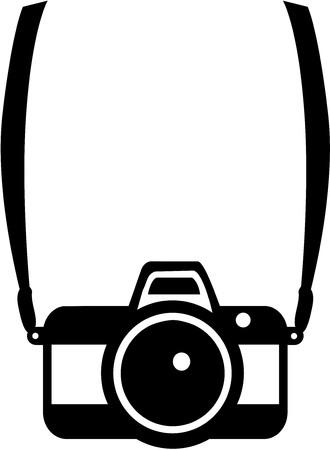Camera with strap icon