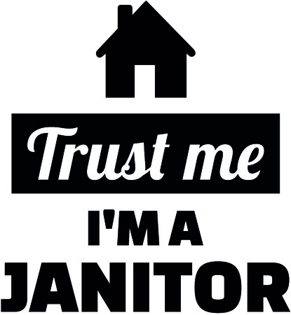 Trust me I am a janitor with black house  Çizim