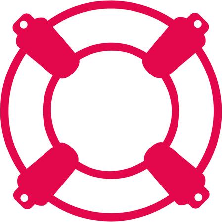 Lifebelt icon for rescue swimmer  イラスト・ベクター素材