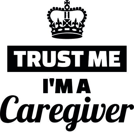 Confía en mí soy un cuidador con la corona de la ilustración . Foto de archivo - 93127325