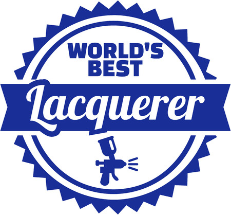 Emblem for worlds best lacquerer illustration.