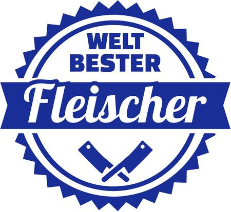 German emblem for worlds best butcher Illustration