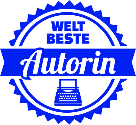 German emblem for worlds best writer female.