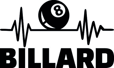 Heartbeat pulse line with billiards ball  イラスト・ベクター素材