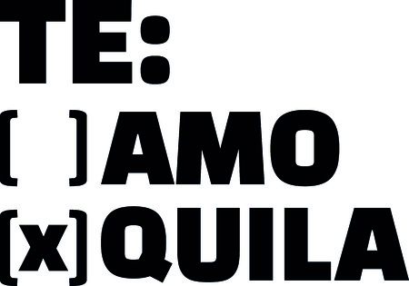 Te amo or Tequila to tick off vector illustration.