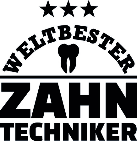 Worlds best male dental technician with tooth german