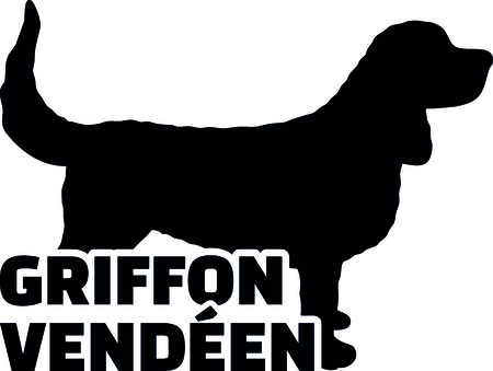 Griffon vendeen silhouette real with word