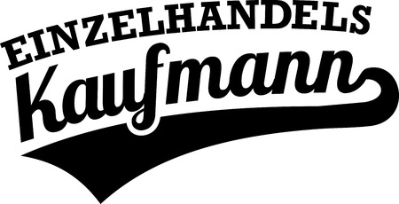 Retail salesman or merchant retro in German illustration. 일러스트