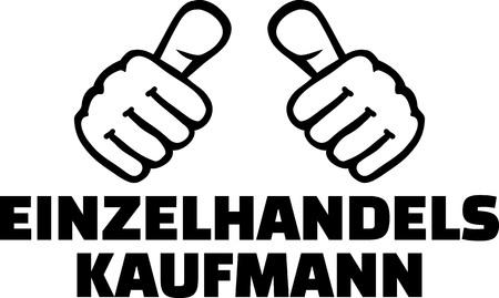 Retail salesman or merchant thumbs german