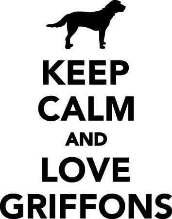 Keep calm and love Griffons vector illustration. Иллюстрация