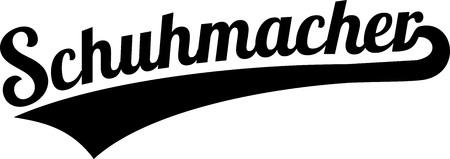 Shoemaker or bootmaker retro in German illustration.