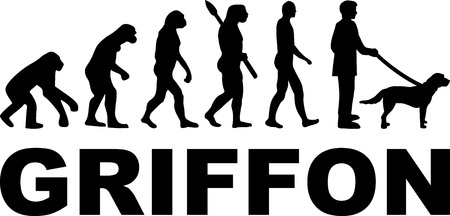 Griffon evolution with dog name illustration. Иллюстрация