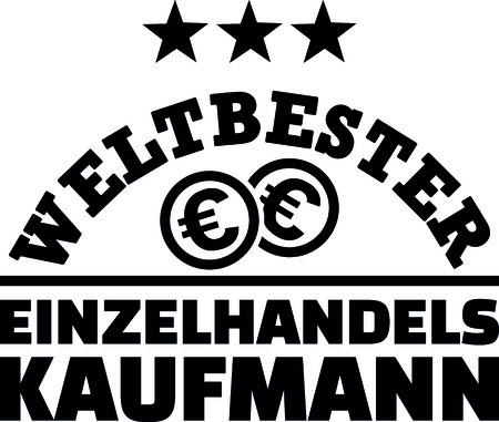 Worlds best retail salesman with dollar coins german