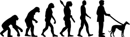 Whippet evolution with dog silhouette Illusztráció