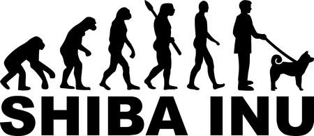 Shiba inu evolution with word