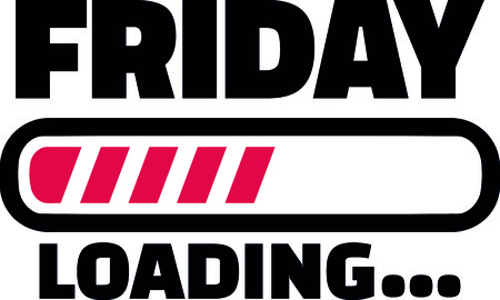 Friday loading bar for the weekend  일러스트