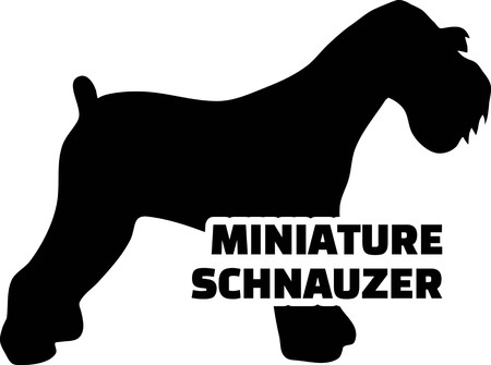Miniature Schnauzer silhouette real with word