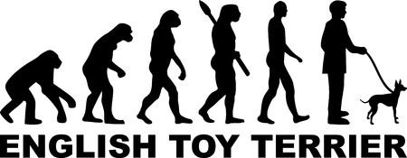 Evolution du terrier de jouet anglais avec mot Vecteurs