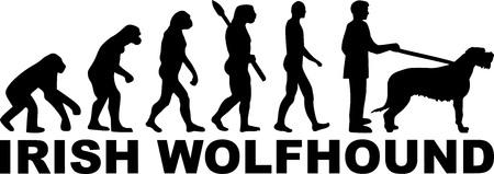 Irish Wolfhound evolution with word in black