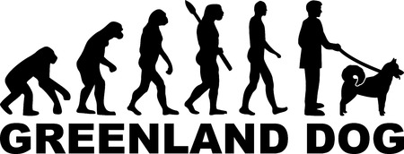 Greenland Dog evolution with word in black