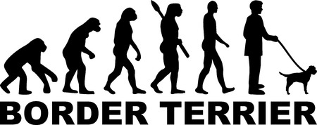 Border Terrier evolution with word in black
