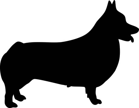 Welsh Corgi Pembroke silhouette real black
