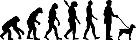 Brittany Spaniel evolution development with silhouette