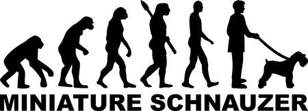 Miniature Schnauzer evolution with word in black Illusztráció
