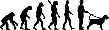 Bloodhound evolution development with silhouette