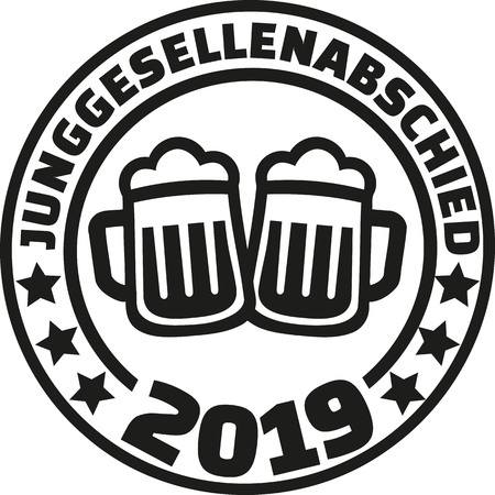 Stag night 2019 beer german bachelor party  イラスト・ベクター素材