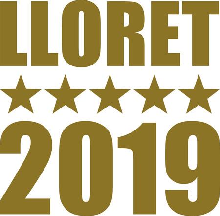 Lloret 2019 with golden stars