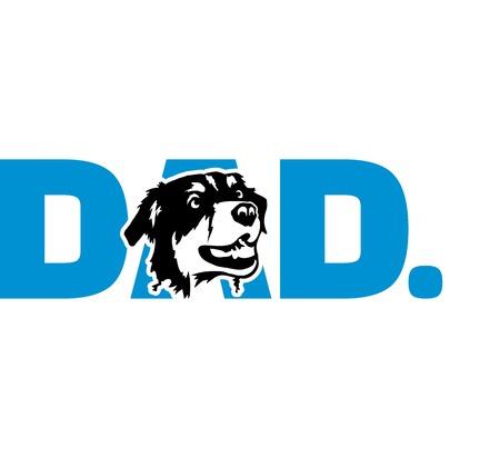 Australian Shepherd best dad ever